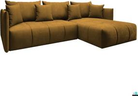 Univerzális ülőgarnitúra, mustár színű, LENY ROH