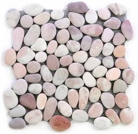 Mozaik burkolat DIVERO® 1m2 - folyami kavics, bézs