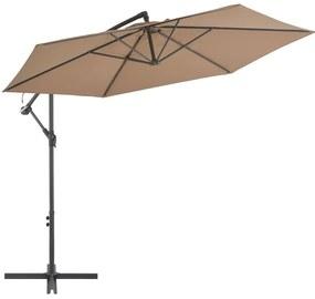 vidaXL tópszínű konzolos napernyő alumíniumrúddal 300 cm
