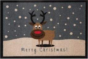 Merry Christmas Reindeer lábtörlő, 40 x 60 cm - Hanse Home