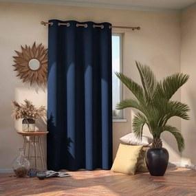 Eyelets kék sötétítő függöny, 245 x 140 cm - AmeliaHome