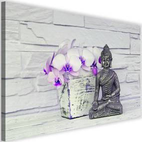 Modern kép 120x80cm – Buddha With Flower