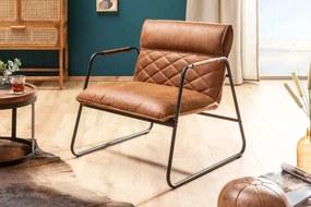 Stílusos fotel Derrick világosbarna antik