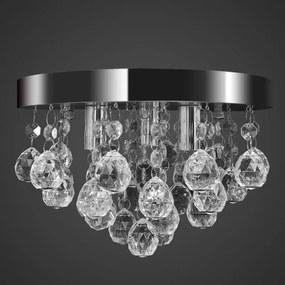 Mennyezeti függő lámpa kristály csillár króm