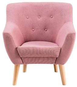 EAST 1 kárpitozott fotel, 90x76x55, rózsaszín, cablo 12