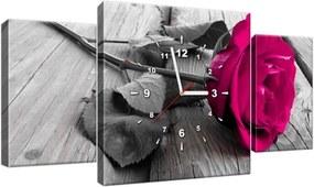Órás falikép Rózsaszín rózsa 80x40cm ZP1141A_3AX