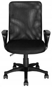 Állítható magasságú, hálós háttámlás, gurulós irodai szék, fekete