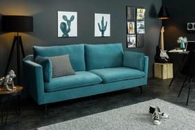 HIGHLIGHT  design bársony kanapé - 210cm - kék