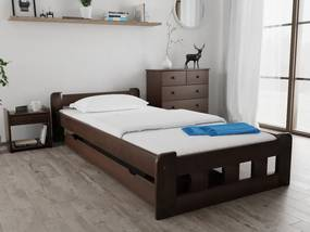 Naomi magasított ágy 90x200 cm, diófa Ágyrács: Deszkás ágyráccsal, Matrac: Deluxe 15 cm matraccal