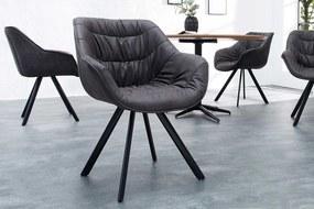 Stílusos szék Kiara sötét szürke, antik