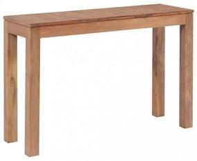 Természetes felületű tömör tíkfa tálalóasztal 110 x 35 x 76 cm