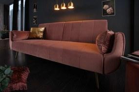 Nyitható ülőgarnitúra Amiyah rózsaszín