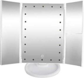 Állítható, forgatható, kihajtható LED-es tükör, fehér