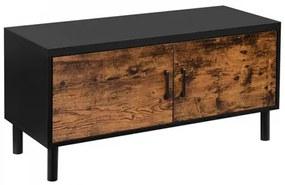 Cipőtároló szekrény 100x35x45 cm - vintage