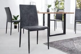 Stílusos szék Neapol / sötét szürke - antik