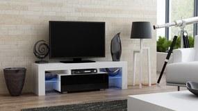 RTV Milano 130, fehér / fekete – TV-asztal