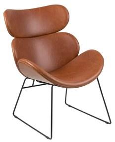 Cazar műbőr fotel fekete lábakkal - Actona