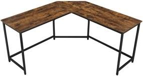 Sarok íróasztal, L alakú számítógép asztal, irodai asztal 149 x 149 x 75 cm