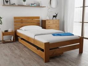 Magnat PARIS magasított ágy 80x200 cm, tölgyfa Ágyrács: Ágyrács nélkül, Matrac: Somnia 17 cm matraccal