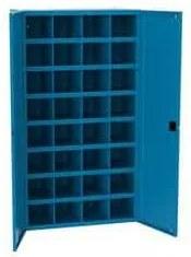 Fém műhelyszekrény osztórészekkel SFR322, 180 x 100 x 53 cm, kék