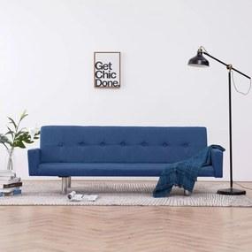vidaXL kék poliészter kárpitozású karfás kanapéágy