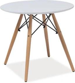 Tárolóasztal, fehér / bükk, SOHO 60X60