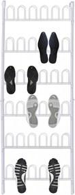 Fehér acél cipőtartó 18 pár cipő számára