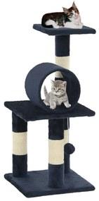 vidaXL sötétkék macskabútor szizál kaparófákkal 65 cm