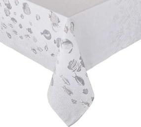 REEF pamut asztalterítő, fehér-ezüst 250 x 160cm
