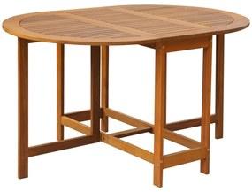 vidaXL tömör akácfa kerti asztal 130 x 90 x 72 cm