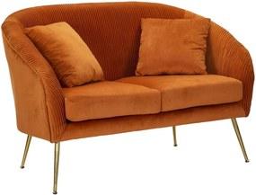 BUDAPEST narancssárga és arany bársony kanapé