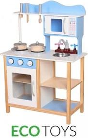 EcoToys Fa konyha ELLA, kiegészítők, TK040 kék