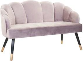 PAPILLON bársonyszövet kanapé 2 személyes, pasztell lila