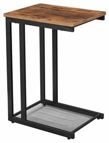 Kanapé alá csúsztatható oldalsó asztal