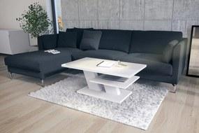 CLIFF fehér fény / fehér, dohányzóasztal