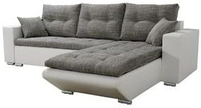 DORY sarok ülőgarnitúra, 350x210 cm, kornet/textilbőr, kornet 02/D511, jobbos