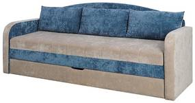 SPARTAN kinyitható kanapé, 86x208x75 cm cm, santana/kék