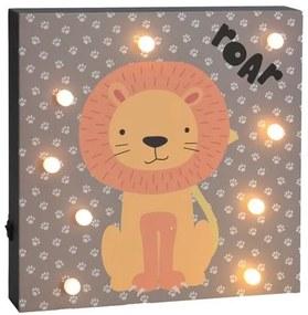 Hatu Oroszlán fali LED dekoráció, 26 x 4 x 26 cm