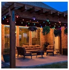 Milagro LED RGB Kültéri dekorációs lánc GIRLANDA 10 m 10xE27/1,5W/230V IP44 MI0814