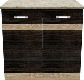 Salandra Elemes konyha 2 ajtós alsószekrény DARK SONOMA 60 x 80 x 60 cm