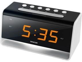 Sencor SDC 4400 W LED-es ébresztőóra, fekete