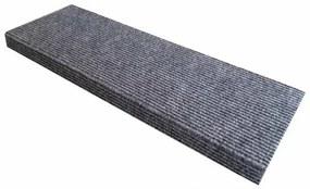 Quick step lépcsőszőnyeg, téglalap, szürke, 24 x 65 cm