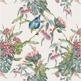 Tropical Parrot tapéta, 50 x 280 cm - Dekornik