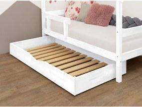 Buddy fehér ágy alatti rácsos fiók fából, 90 x 180 cm - Benlemi