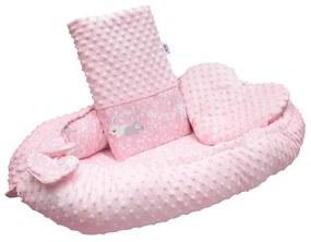 NEW BABY | New Baby Pillangók | Luxus babafészek párnával és paplannal New Baby Minkyből Nyuszi rózsaszín | Rózsaszín |