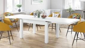 ROYAL Fehér Matt, ÉTKEZŐASZTALOK, asztal 8 fő részére, KINYITHATÓ ASZTAL 2,7 m-ig
