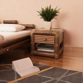 Sötétbarna bambusz éjjeliszekrény 45 x 45 x 40 cm