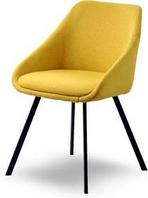 MB Dublin Erős kényelmes szék sárga kárpittal