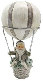 Hőlégballon mikulással karácsonyi dekoráció figura