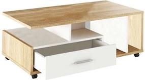 Dechen K42_112 Dohányzóasztal - sonoma-fehér